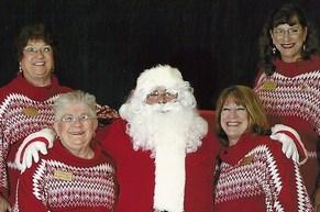 Stevens Sisters and Santa